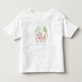 """Raccoon Tea Party"" Toddler Jersey T-shirt"