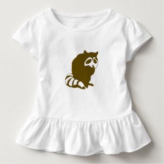 Raccoon Toddler Ruffle Tee