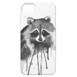 raccoon watercolor iPhone 5 cover