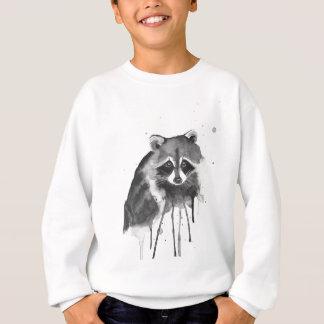 raccoon watercolor sweatshirt
