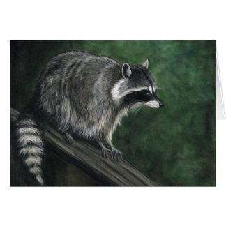 ":Raccoon"" Wildlife Art Reproduction Blank Notecard"