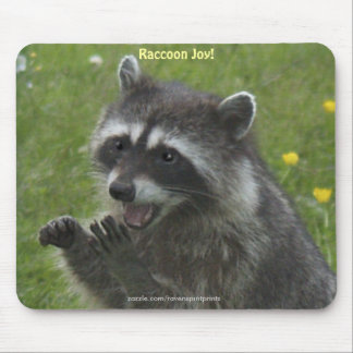 RACCOON WILDLIFE Happiness Mousepads