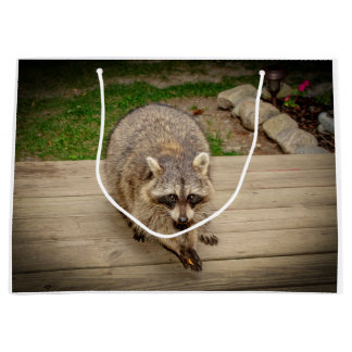 Raccoon with a chip large gift bag