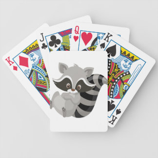 Raccoon woodland bicycle playing cards