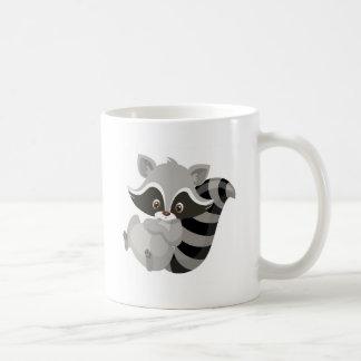 Raccoon woodland coffee mug