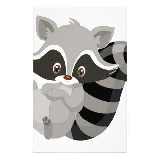 Raccoon woodland custom stationery