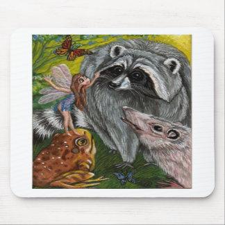 RACCOON Woodland Friends Mousepad
