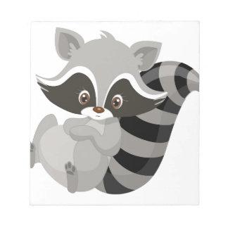 Raccoon woodland notepad