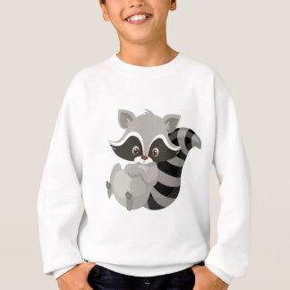 Raccoon woodland sweatshirt