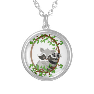 Raccoon WOODLANDCRITTERS Silver Plated Necklace