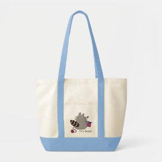 Raccoon Yarn Bandit Knitting Bag