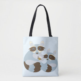 Raccoons and Bumble Bee Tote