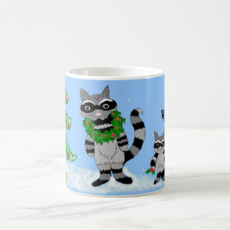 Raccoons- Bah Humbug... Basic White Mug