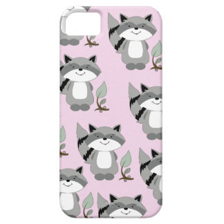 Raccoons Woodland iPhone 5 Casemate Case (Pink)