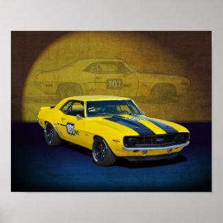 Race Camaro Poster