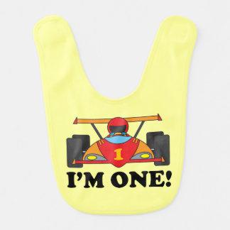 Race Car 1st Birthday Bib