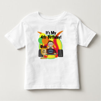 Race Car 4th Birthday Tshirts and Gifts