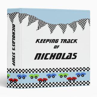 Race Car Baby Book Vinyl Binders
