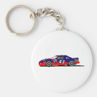 Race Car Basic Round Button Keychain