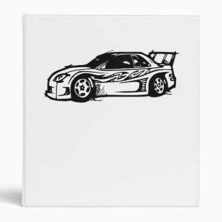 Race Car 3 Ring Binders