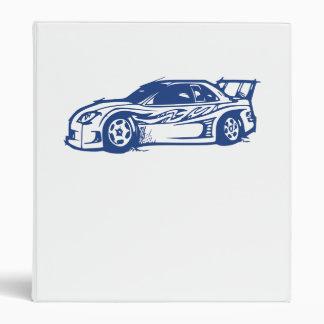 Race Car Vinyl Binders