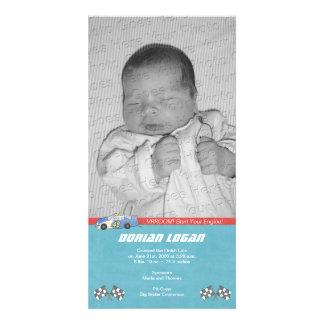 Race Car Birth Announcement Card