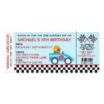Race Car birthday invitation customizable