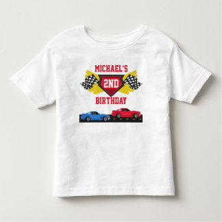 Race Car Birthday T-shirt Toddler Kid Child