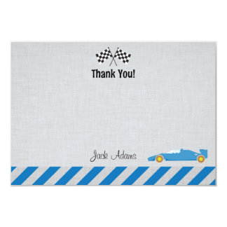 Race Car Birthday Thank You Card