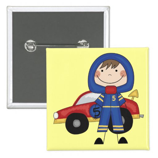 Race Car - Boy Tshirts and Gifts Pinback Buttons