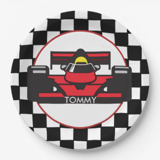 Race Car Design Paper Party Plate