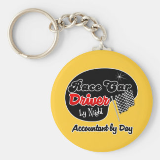 Race Car Driver by Night Gunsmith by Day Basic Round Button Keychain