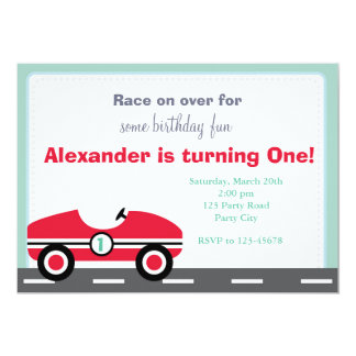Race Car Invitation (Ride On Birthday for Boys)