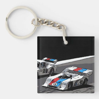 RACE CAR - KEIN VERGLEICH Double-Sided SQUARE ACRYLIC KEYCHAIN