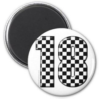 race car number 18 magnet