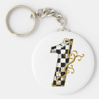 race car number 1 keychains