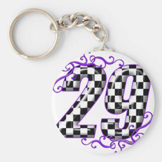 Race car number 29 basic round button keychain