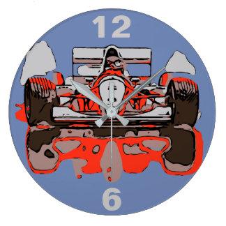 RACE CAR - RAIN MASTER LARGE CLOCK