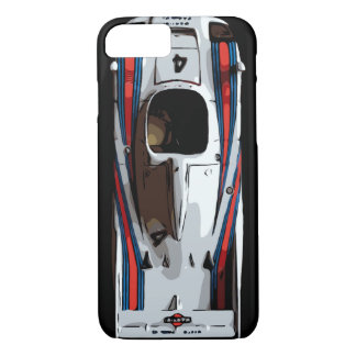 RACE CAR - red, white, blue iPhone 7 Case