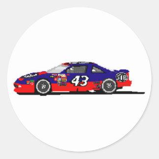 Race Car Round Sticker