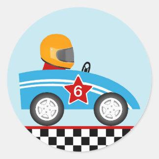 Race car round sticker customize