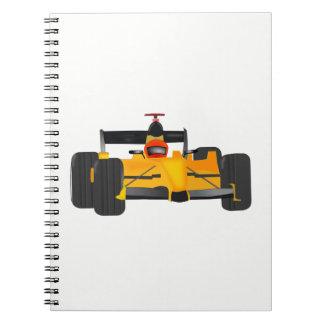 race-car spiral notebook
