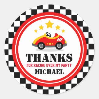 Race Car Thank You Favor Tag