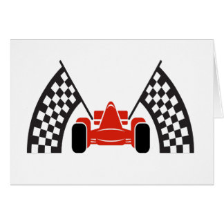 Race Car Thank You or Blank Note Card