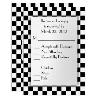 Race Car Theme RSVP with Menu Choice Card