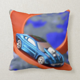 Race Car Throw Pillow
