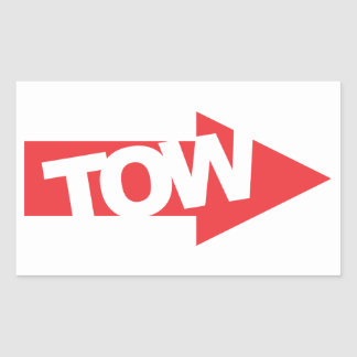 Race Car Tow Decal Sticker