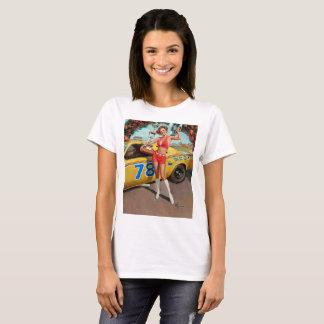 Race car trophy vintage pinup girl T-Shirt