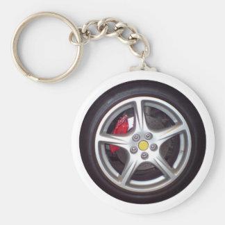 Race Car Wheel Keychain