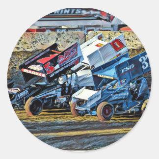 Race Cars Classic Round Sticker